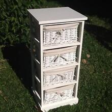 White 4 drawer set with cane drawers Mosman Mosman Area Preview