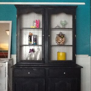Blue solid wood cabinet