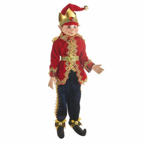 "16"" POSABLE ELF Nutcracker Traditions RAZ IMPORTS Christmas 4002396 NEW Wow!"