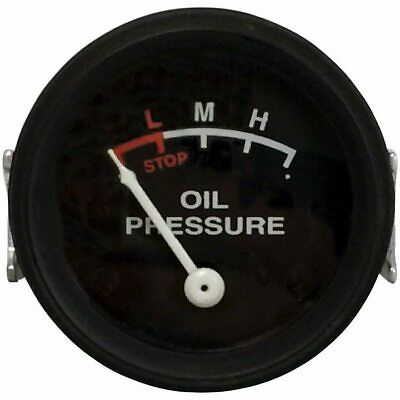 John Deere Oil Pressure Gauge 0-25 Psi With Black Face