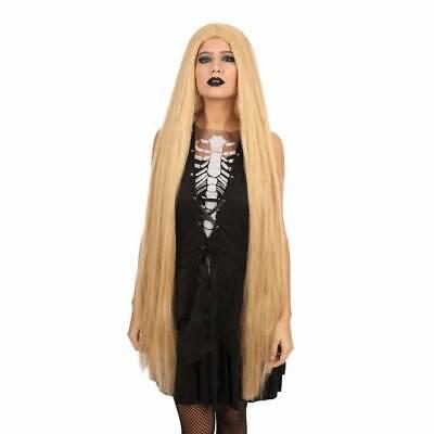 Damen 102cm Lang Gerade Blonde Perücke Rapunzel Barbie Cosplay (Rapunzel Kostüm Damen)