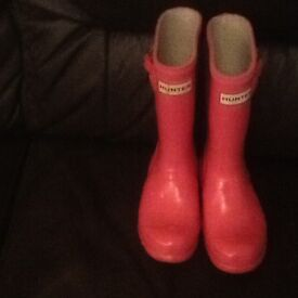Childs Hunter wellies size 11
