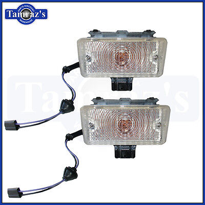 Front Signal Assembly Lens - 1970 Chevelle Front Parking Turn Signal Light Lamp Lens Housing Assembly PAIR