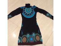 Custo roll neck tunic/dress