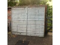 Wainy edge fence panels 16 in total