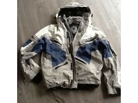 Mens M6 ski jacket not padded, Small , grey/blu/White colour VGC internal pockets /snow skirt