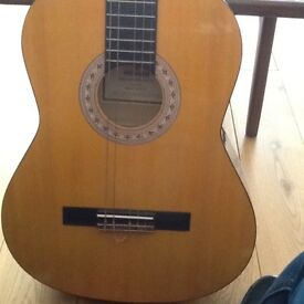 Acoustic guitar with carry case included