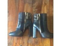 River Island Black Boots size 6 uk worn once for 2 hours was £75