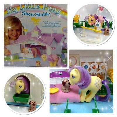 ⭐️ My Little Pony ⭐️ G1 Show Stable Playset Nr Complete w/UK Box & Accessories!