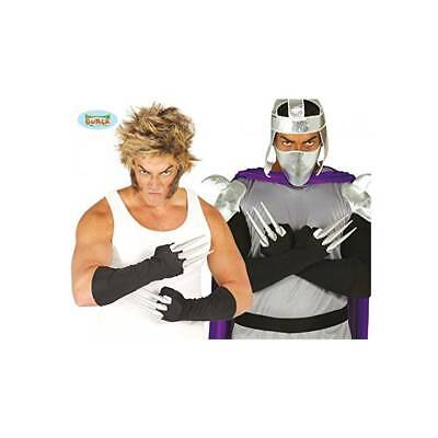 Adult Wolverine Style Black Gloves with Claws Marvel Fancy Dress](Wolverine Gloves With Claws)