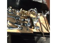 Box of assorted taps/mixers £20