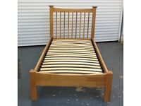 Single oak bed frame for sale in good condition