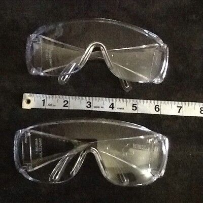 Zee Safety Glasses Lot Of 2  Goggles Clear Lens