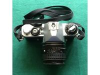Pentax ME Camera with 1:4/200, 1:3.5/28, 1:1.4 lenses