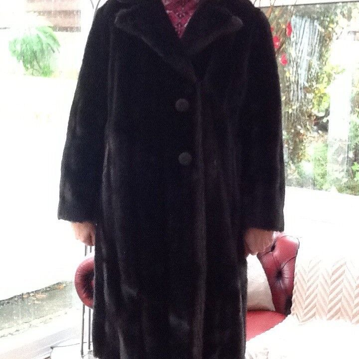 Ladies Faux Mink Coat