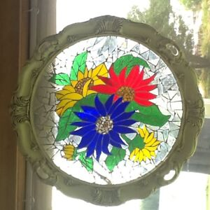 Stain Glass in antique frame