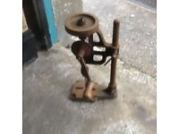 2 VINTAGE HAND OPERATED BENCH DRILL MACHINES