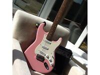 3/4 pink guitar