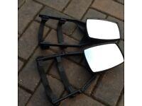 Pair of clip on car wing mirror (Caravan towing mirrors).