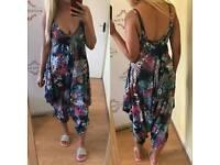 Floral harem jumpsuit