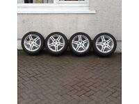 4 x fox racing alloys 5 x 112 vw/audi cheap for quick sale bargain no texts