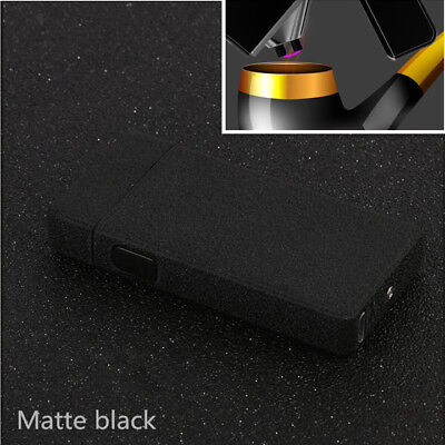 Point Pipe Lighter Electric Dual Arc USB Rechargeable Plasma Gifts Matte black
