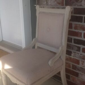 Antique chair, pale pink