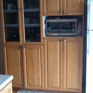 Armoires de cuisine portes en chêne