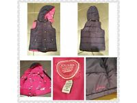 Girls Joules Navy Gilet age 7