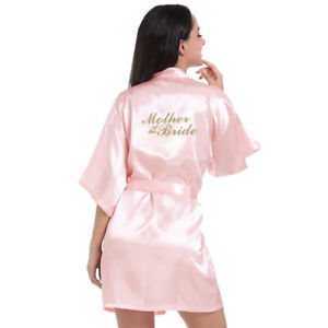 Bride and mother of the bride pink satin bride