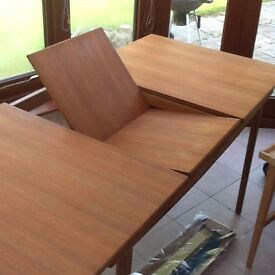 Dining Table, Wood, integrated extension