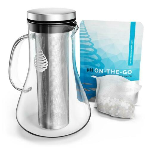 Invigorated Water pH Replenish Glass Alkaline Water Pitcher