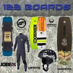 123boards Wakeboards, Bindingen, Wetsuits, Helmen en Vesten.