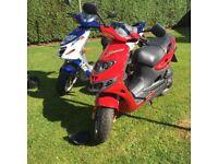 Suzuki Katana 50cc scooter breaking