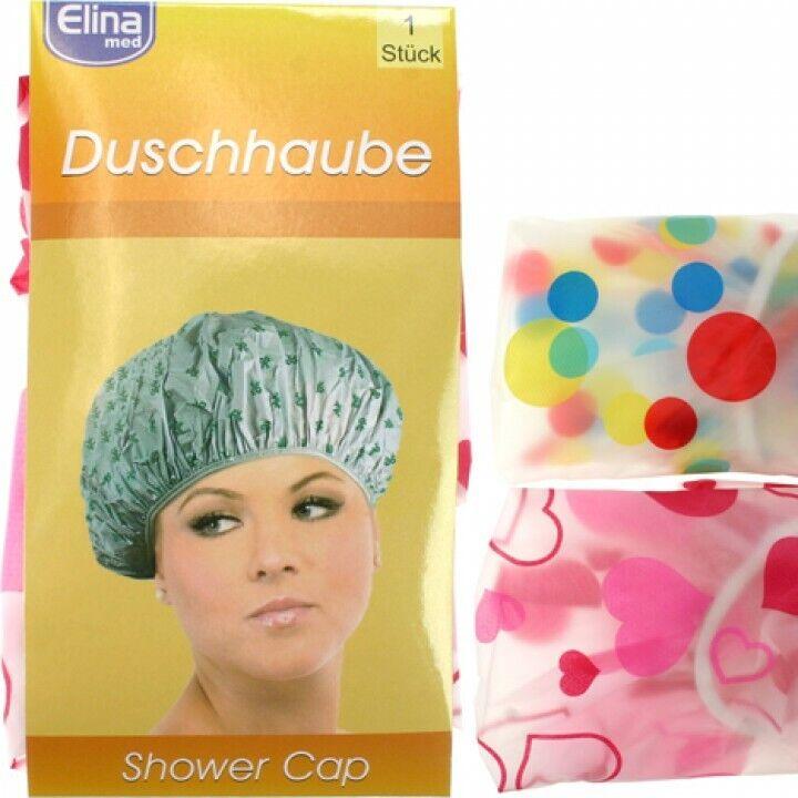 Duschhaube - Badehaube - groß & reißfest! Ideal auch fürs Haarefärben! 2 Motive