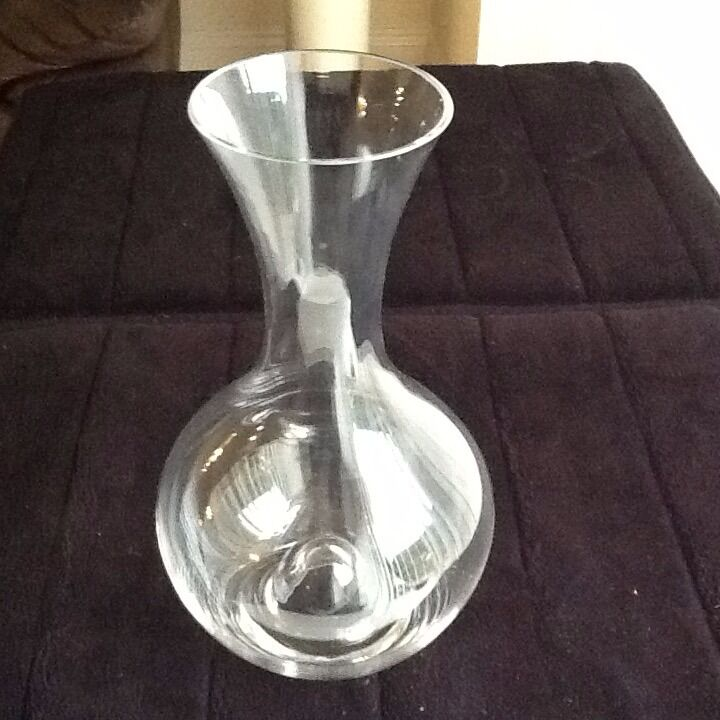 Glass vase new boxed