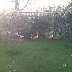 Three swing set