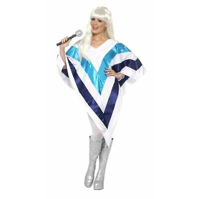 Super Trooper Cape Poncho 70's 80's Celebrity Disco Fancy Dress