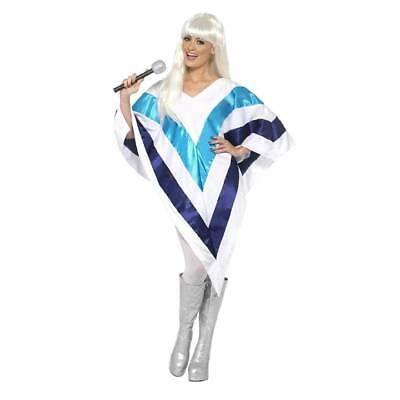 Super Trooper Cape Poncho 70's 80's Celebrity Disco Fancy Dress