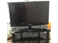 Samsung 32inch HD TV and black glass stand