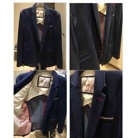 Zara Man Navy Casual Blazer Jacket