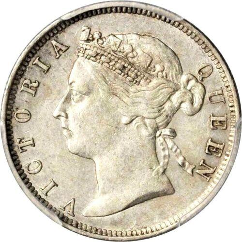 1897 Straits Settlements 20 Cents, PCGS AU 55, KM 12
