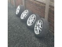 """Ford Peugeot 4x108 17"""" wolfrace alloys tyres as new"""