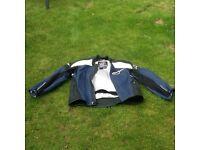 Male Alpine Stars leather motorbike jacket