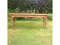 Long pine table handmade