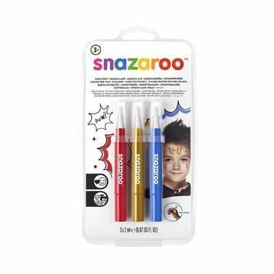 Halloween Make Up Boys (*NEW *Snazaroo Brush Pens Face Paint Felt Pen Make Up Girls Boys)