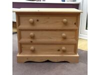Child's small chest of drawers