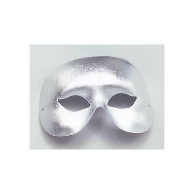 Domino Masquerade (Adult Silver Cocktail Domino Mask Masquerade Carnival Fancy Dress Mens)