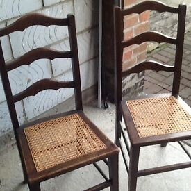 Pair of pretty ladder back chairs