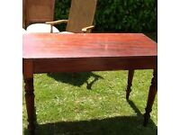 "Lovely 48"" long wooden table"